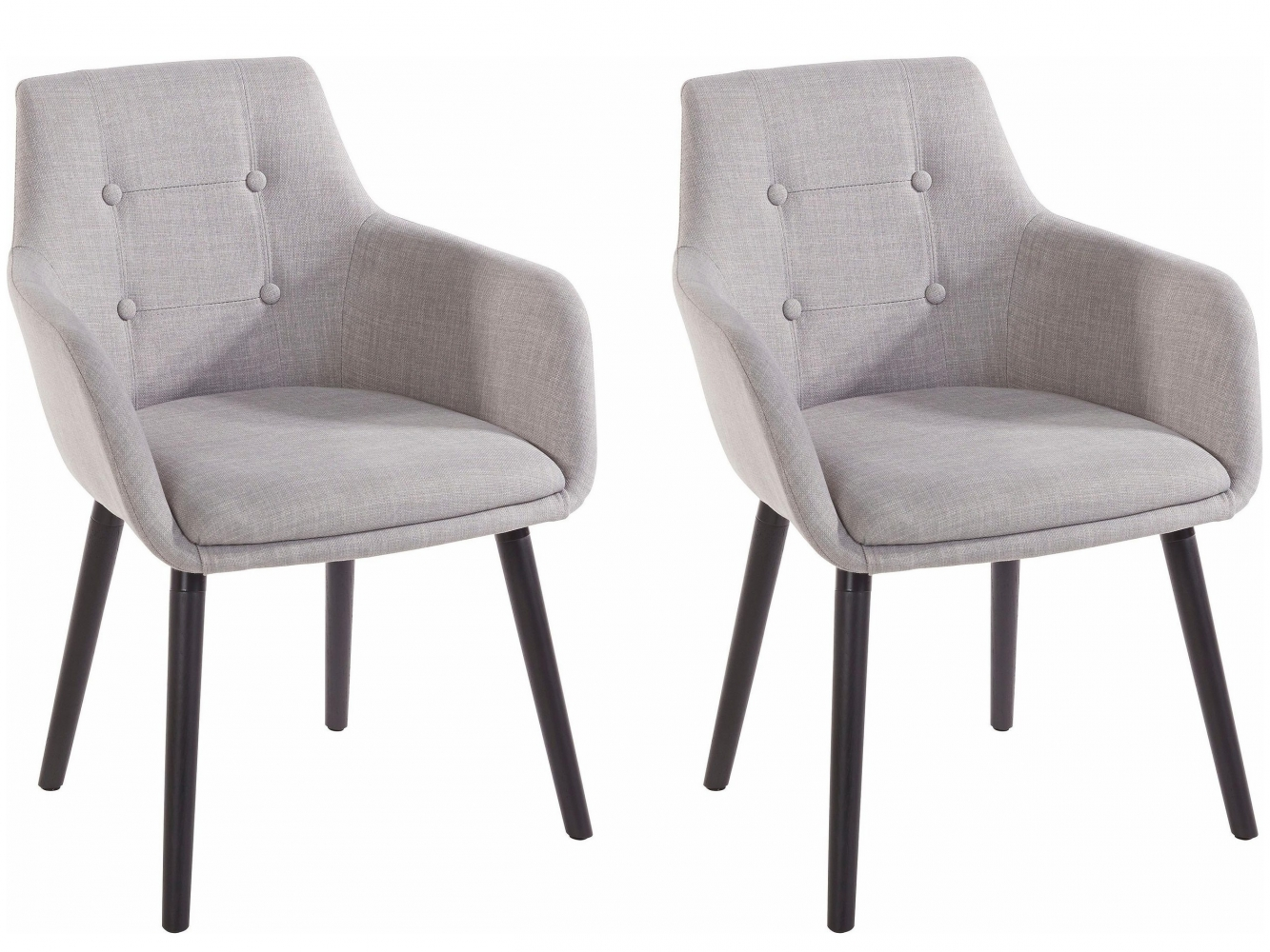 Jídelní židle Buck (SET 2 ks), světle šedá