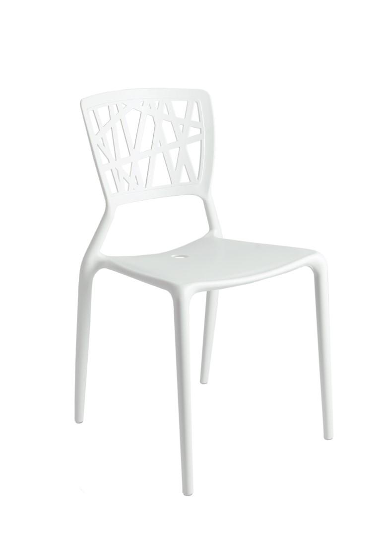 Jídelní židle Busk, bílá