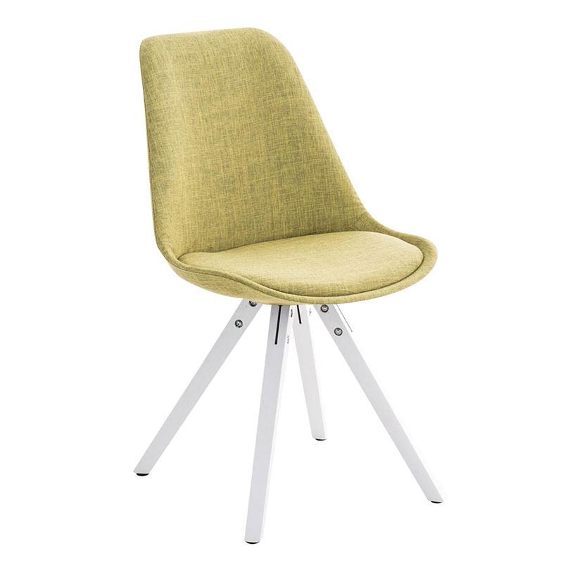 Jídelní židle Damian II., bílá podnož (SET 2 ks) zelená