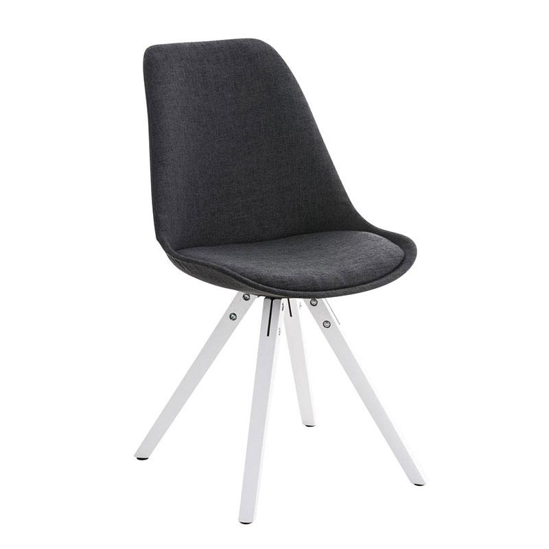 Jídelní židle Damian II., bílá podnož (SET 2 ks)