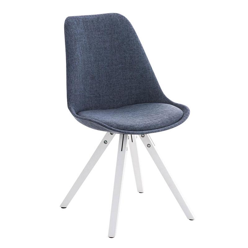 Jídelní židle Damian II., bílá podnož (SET 2 ks) šedá