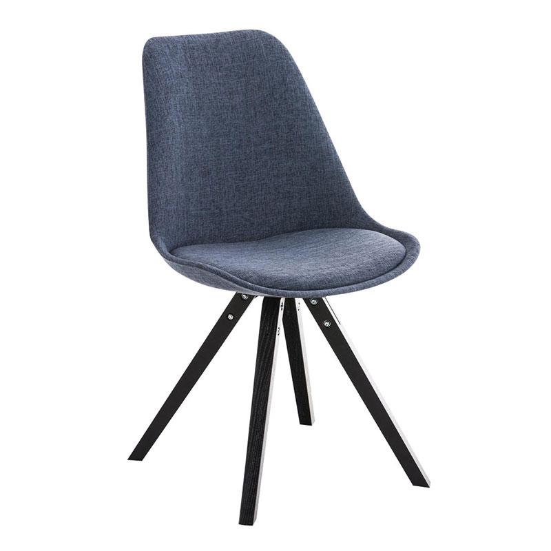 Jídelní židle Damian II., černá podnož (SET 2 ks) zelená