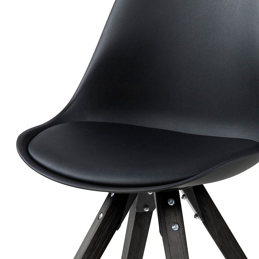 Jídelní židle Damian (SET 2 ks), černá
