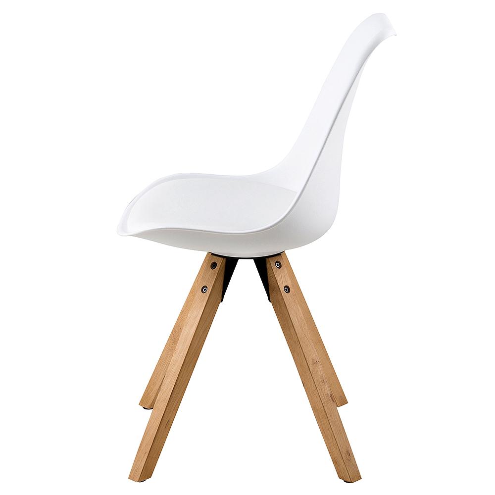 Jídelní židle Damian (SET 2 ks), dřevo/bílá