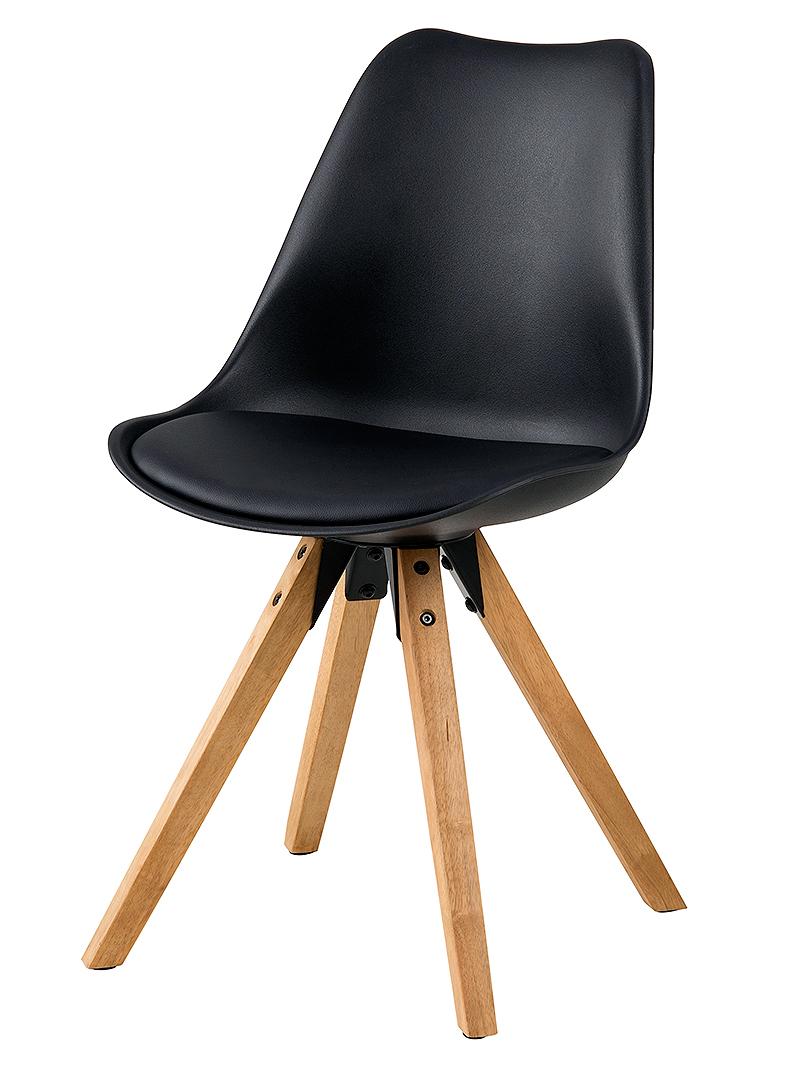 Jídelní židle Damian (SET 2 ks), dřevo/černá