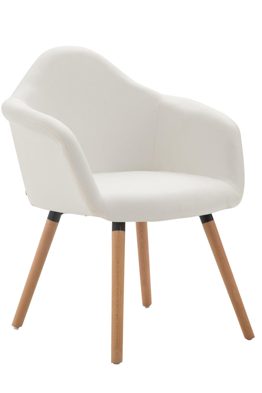 Jídelní židle Detta kůže, přírodní nohy černá