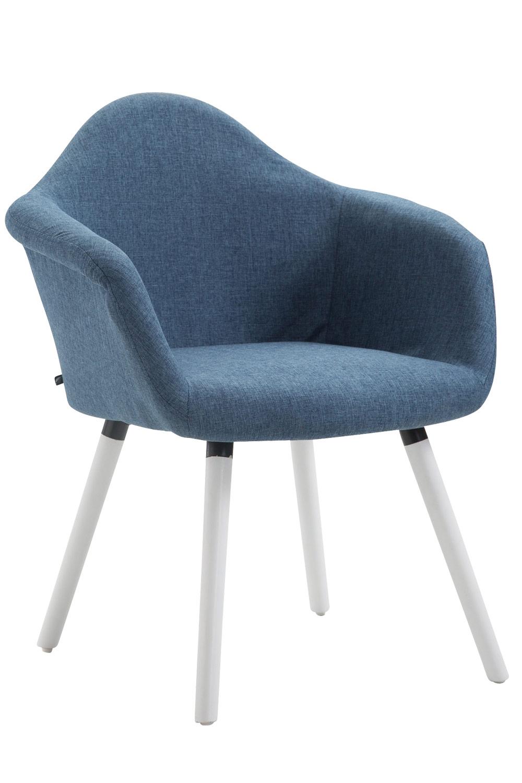 Jídelní židle Detta textil, bílé nohy