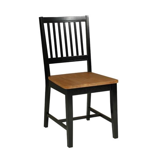 Jídelní židle dřevěná Bridget (SET 2 ks), černá
