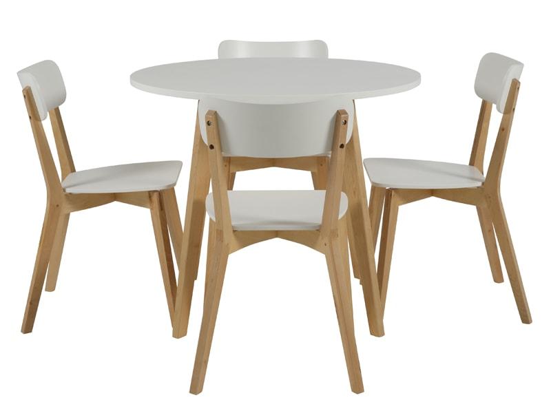 Jídelní židle dřevěná Corby (SET 2 ks) bříza / bílá