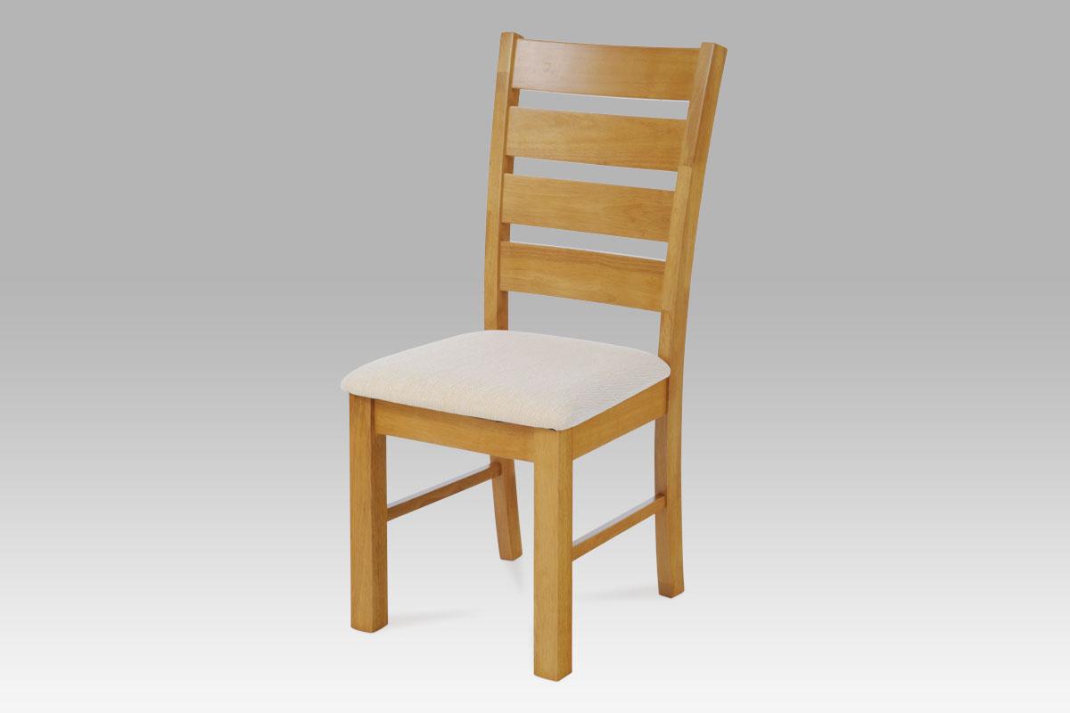 Jídelní židle dřevěná Ines, béžová/dub