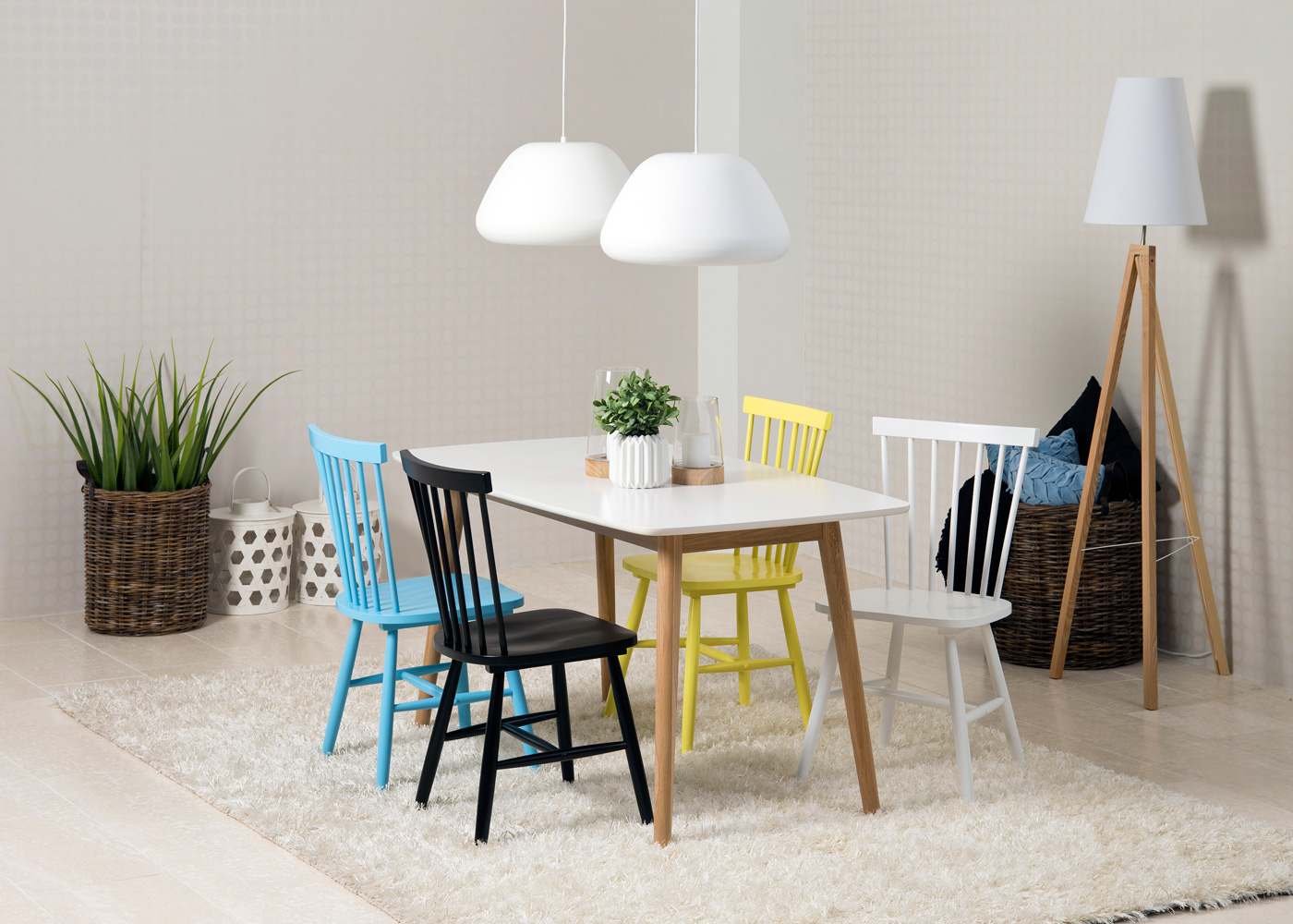 Jídelní židle dřevěná Rino (SET 2 ks) bílá