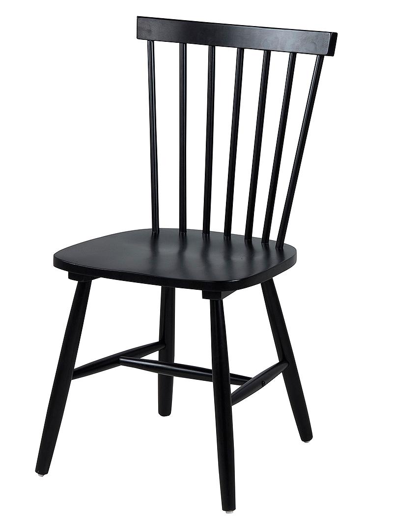 Jídelní židle dřevěná Rino (SET 2 ks) černá