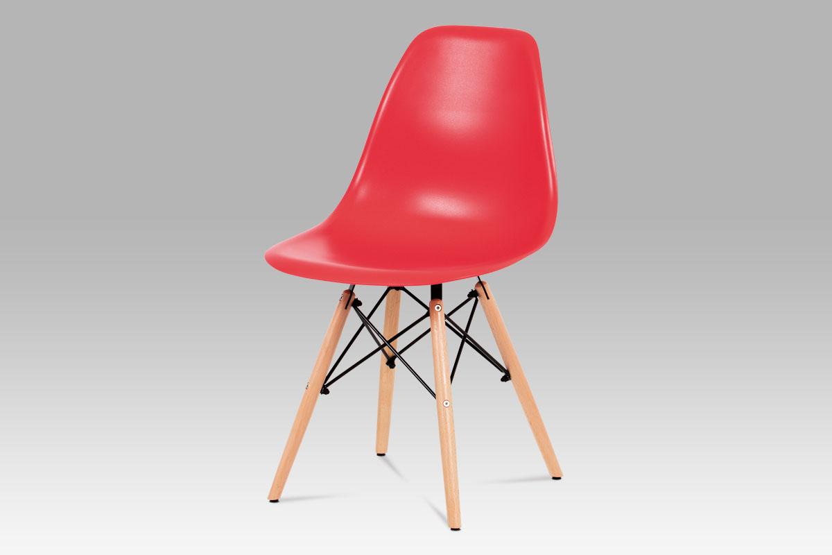 Jídelní židle Elian (SET 4 ks), červená