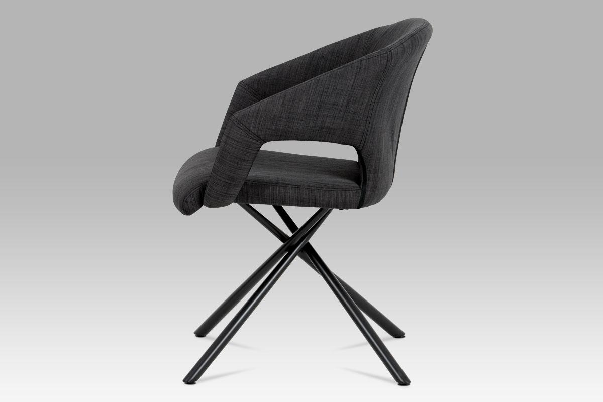 Jídelní židle Elodie (SET 2ks), černá