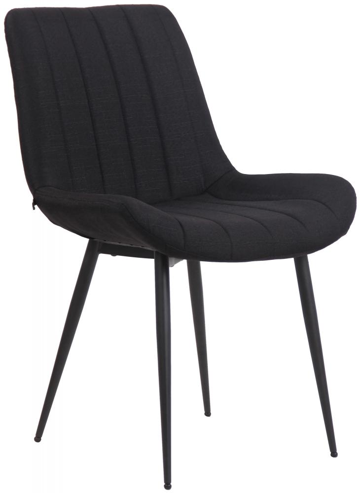 Jídelní židle Everett, textil, černá