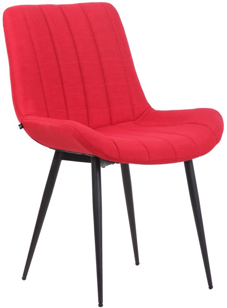 Jídelní židle Everett, textil, červená