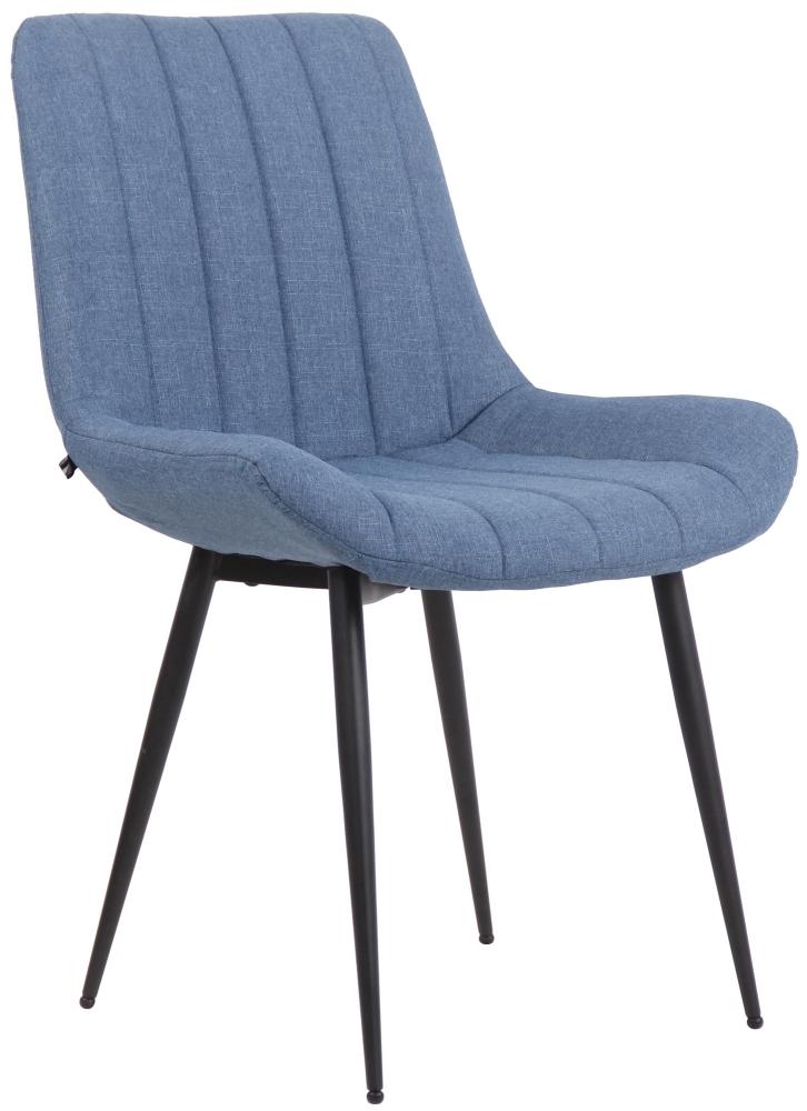 Jídelní židle Everett, textil, modrá