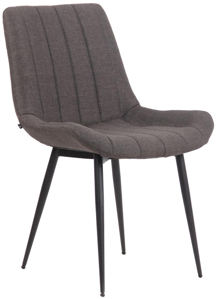 Jídelní židle Everett, textil, tmavě šedá