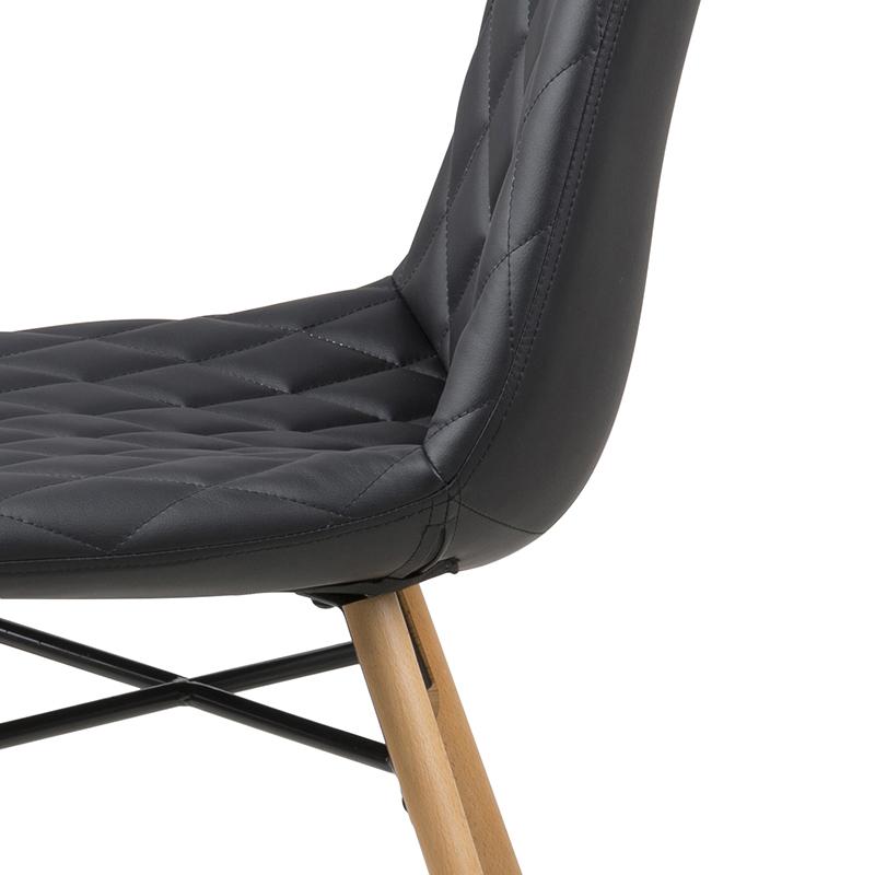 Jídelní židle Filip (SET 2 ks), černá