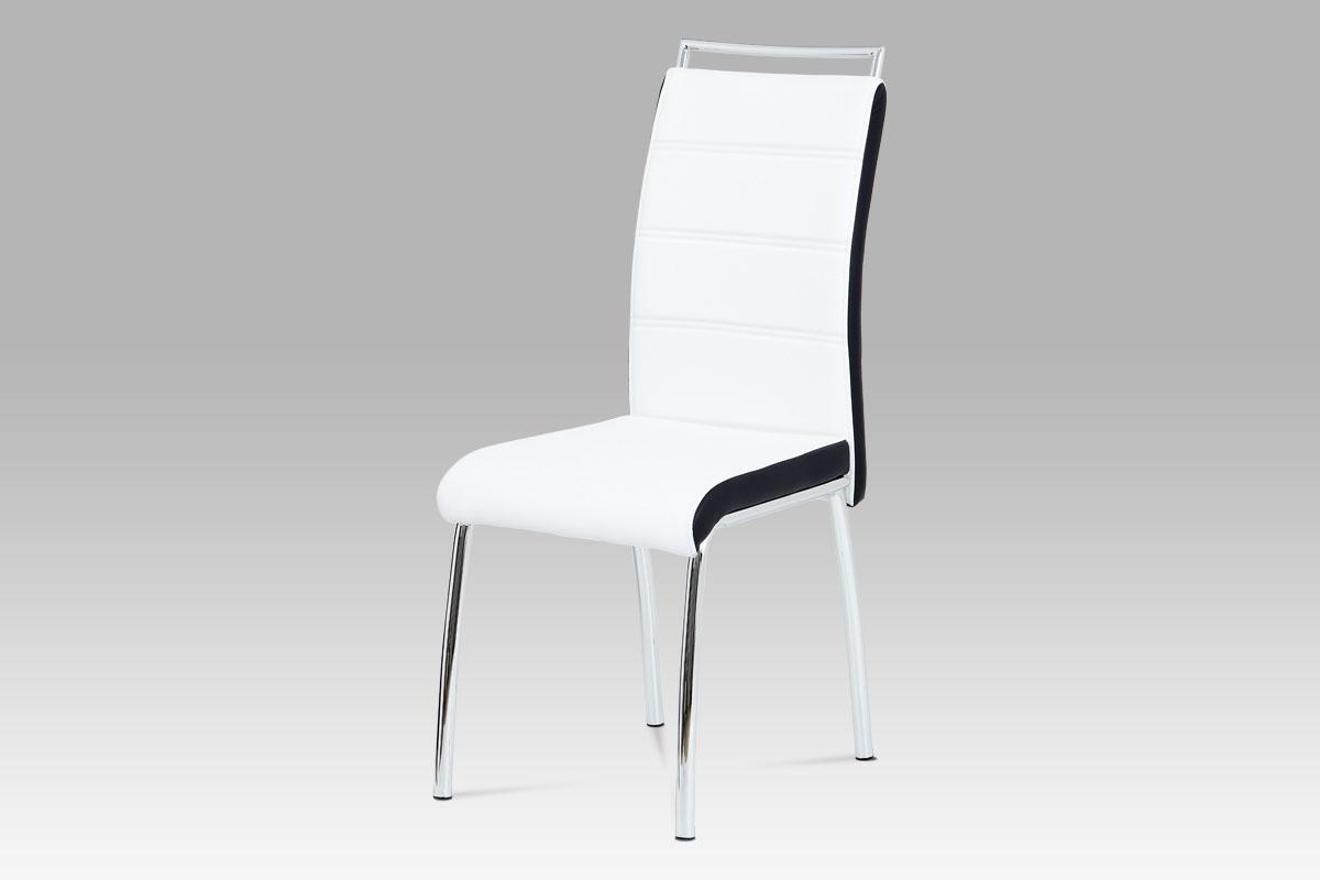 Jídelní židle Flavio (SET 4 ks), černá / bílá