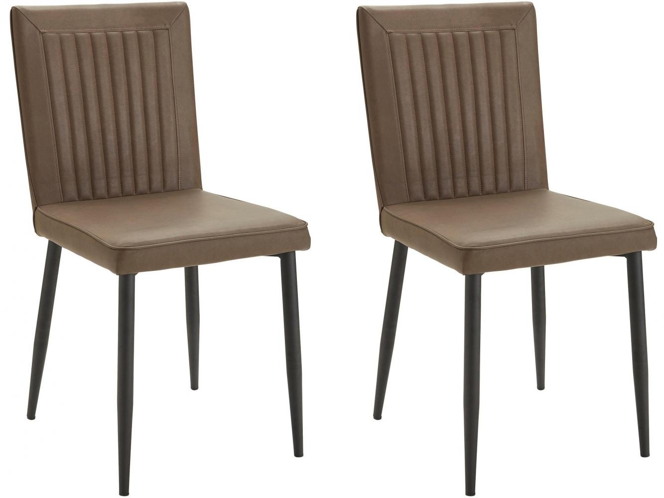 Jídelní židle Fona (SET 2 ks), hnědá