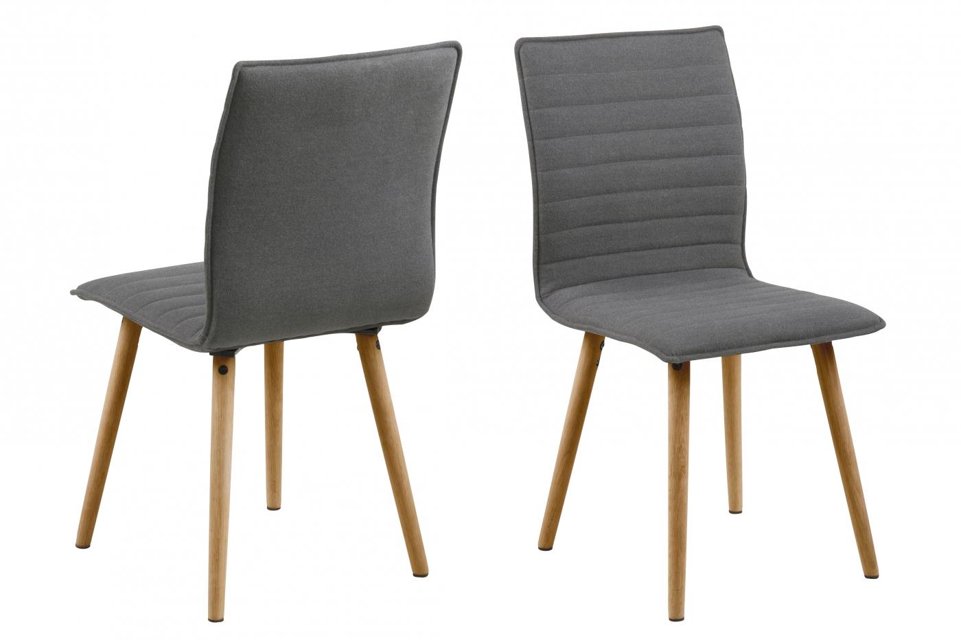 Jídelní židle Frida (SET 2 ks), sv. šedá