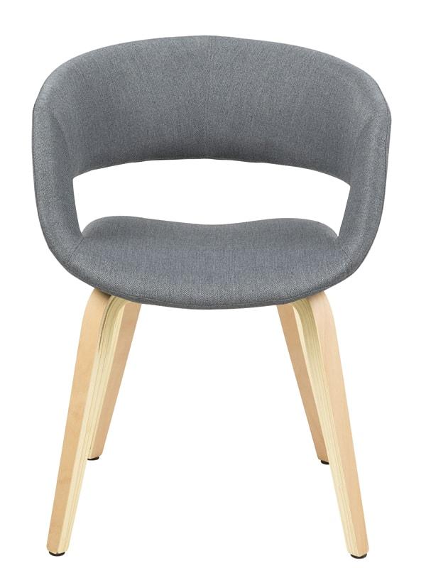 Jídelní židle Garry s dřevěnou podnoží tmavě šedá