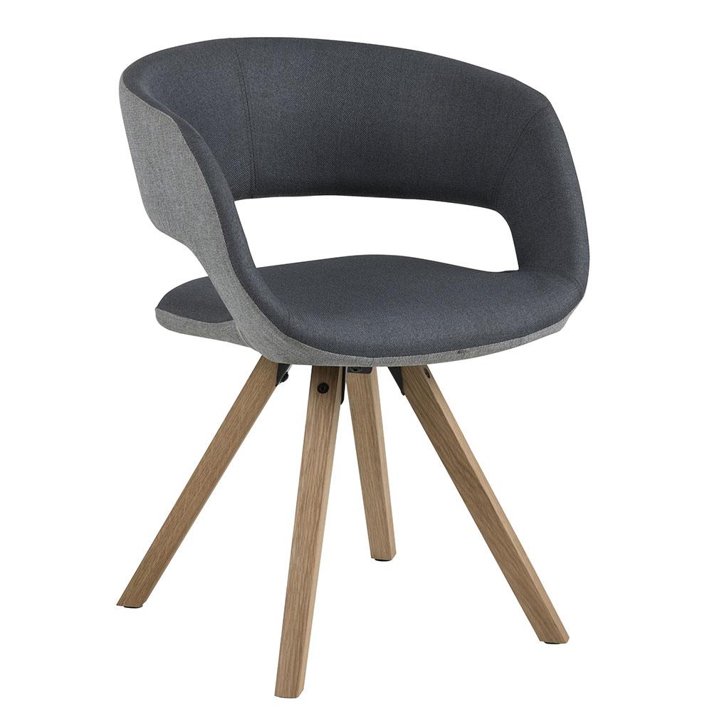 Jídelní židle Garry, sv. šedá/tm. šedá