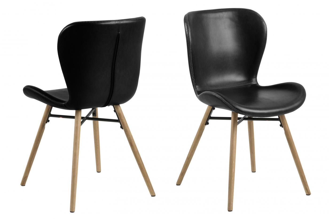 Jídelní židle George II. (SET 2 ks), černá