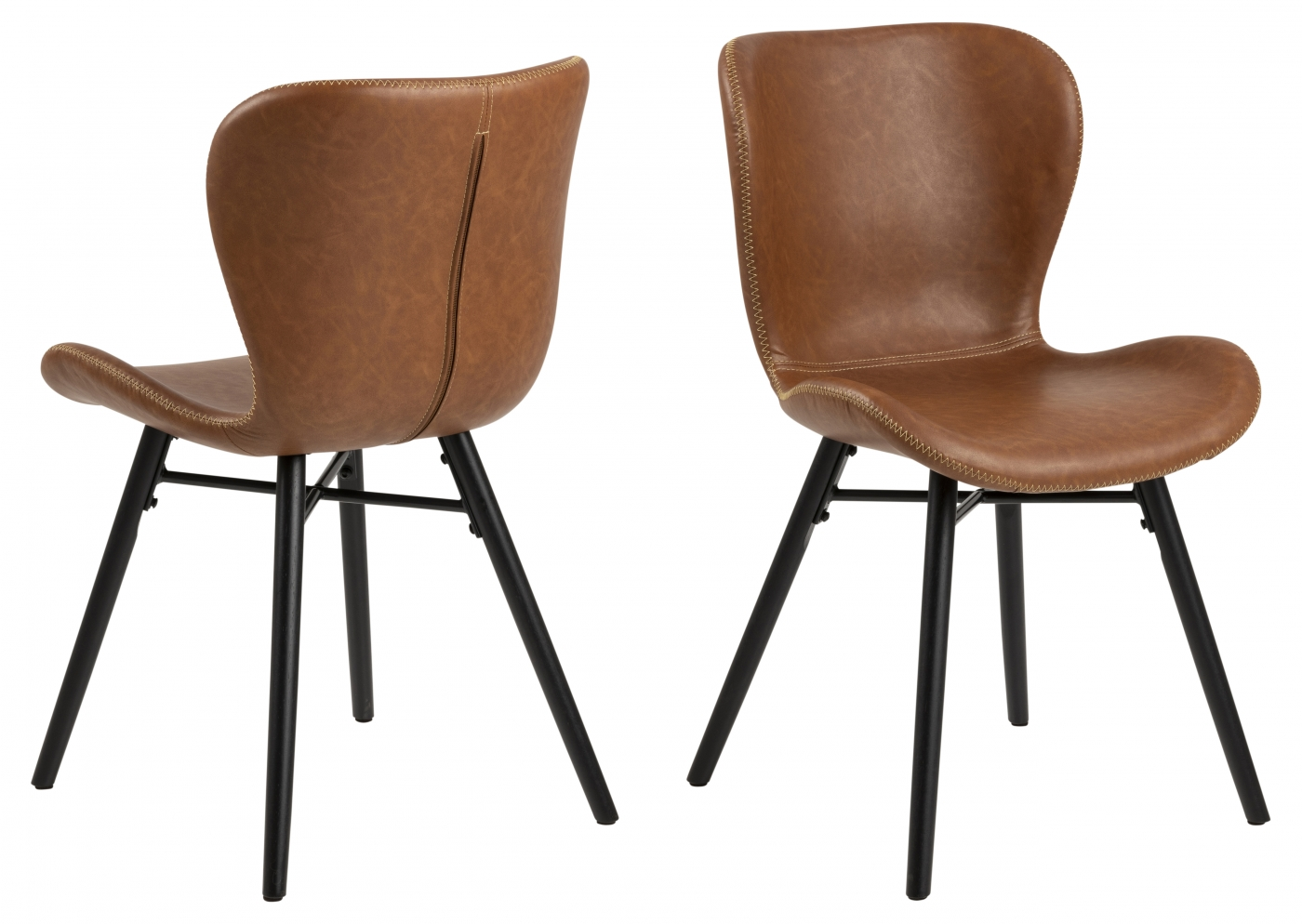 Jídelní židle George (SET 2 ks), hnědá