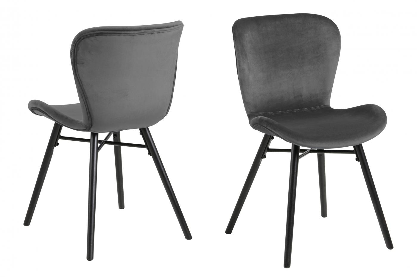 Jídelní židle George (SET 2 ks), tmavě šedá