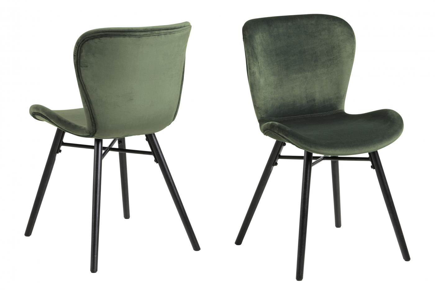 Jídelní židle George (SET 2 ks), tmavě zelená