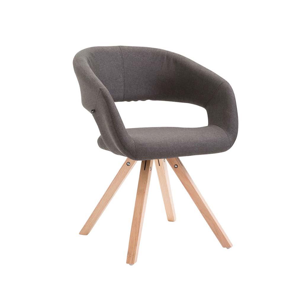 Jídelní židle Gizela II. textil, přírodní tmavě šedá