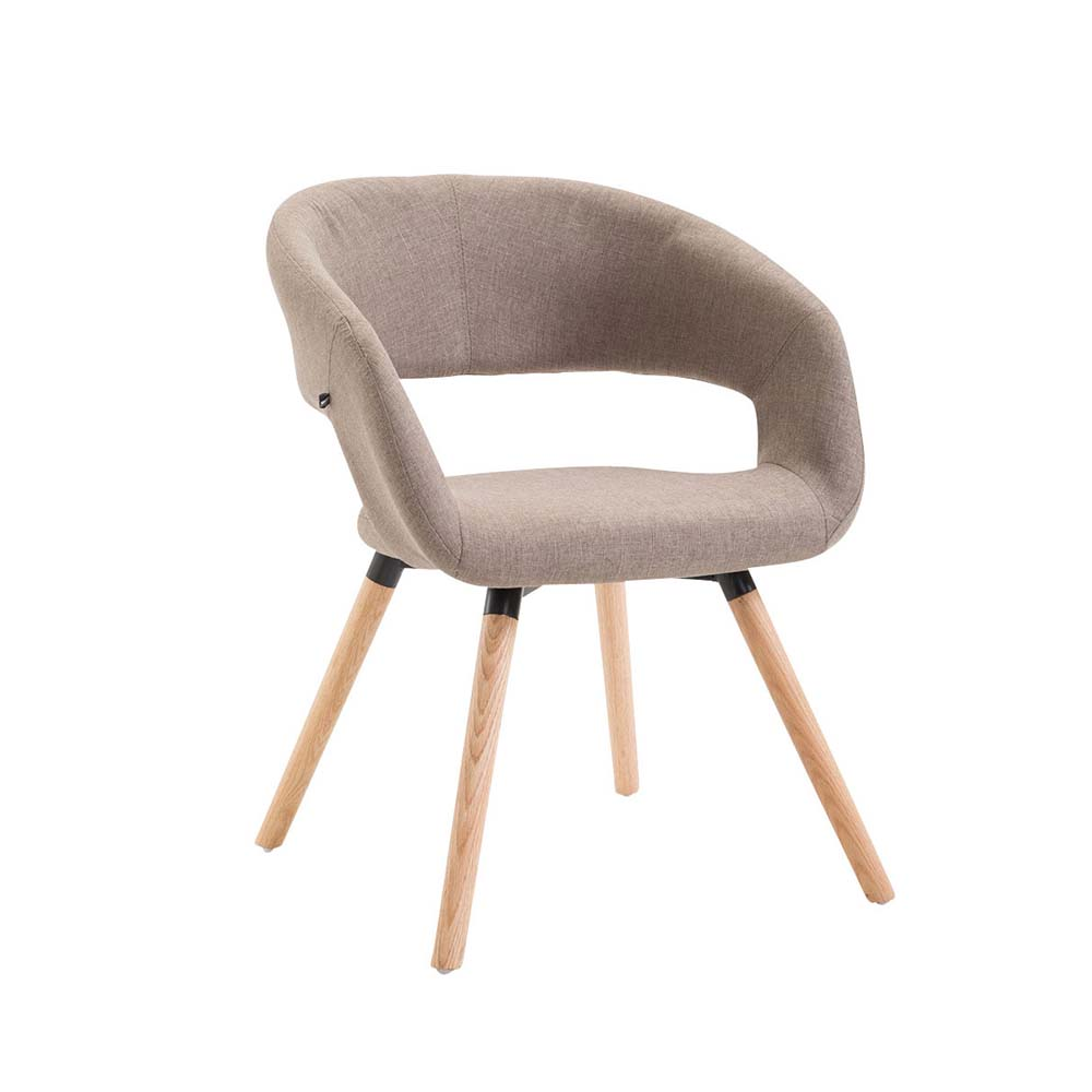 Jídelní židle Gizela textil, přírodní