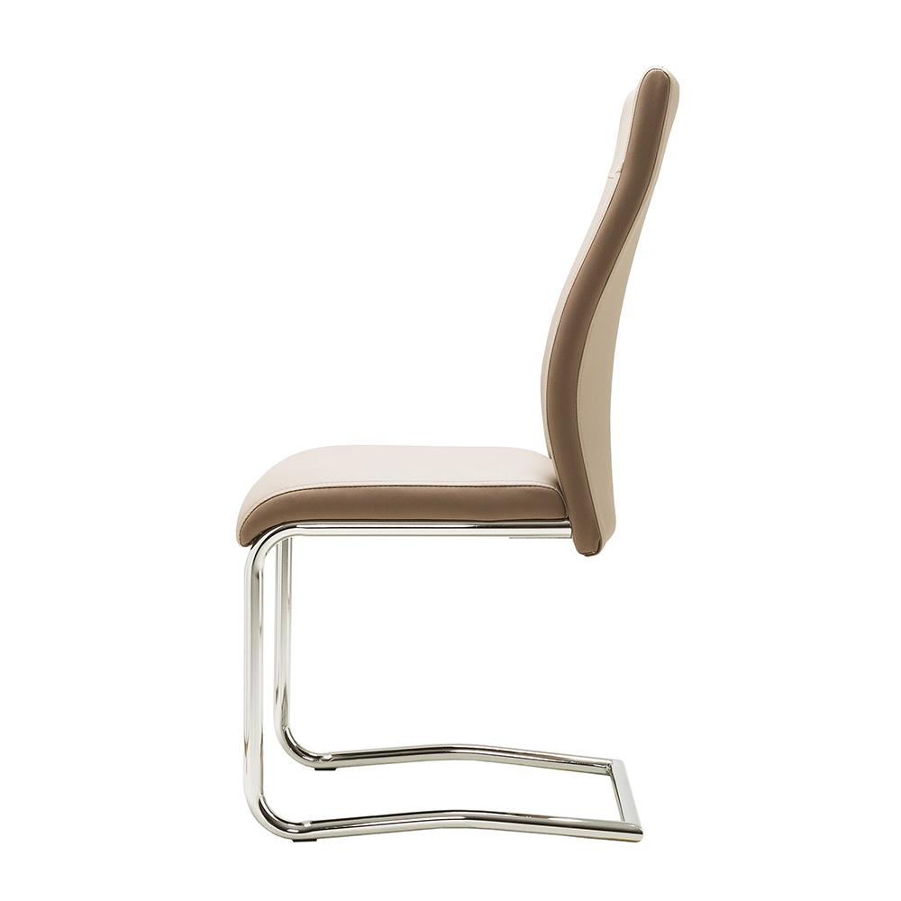 Jídelní židle Glady, cappuccino/hnědá