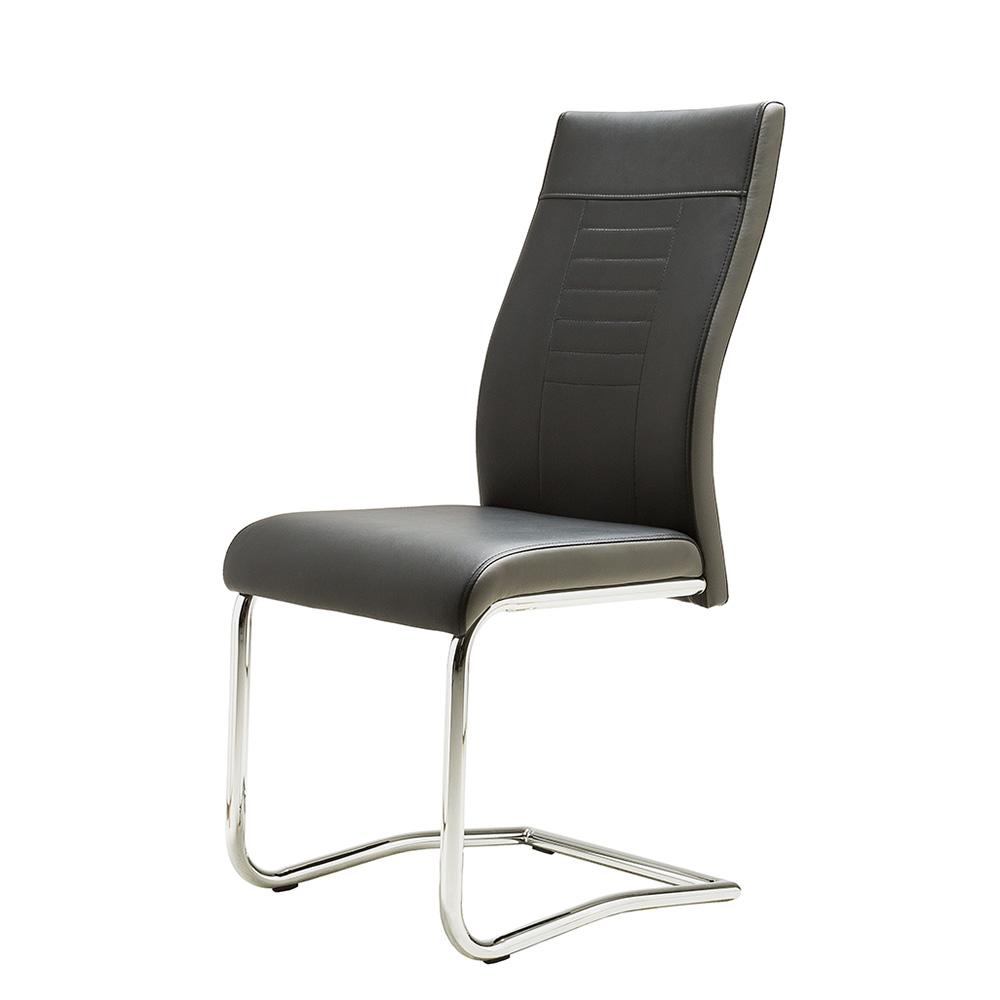 Jídelní židle Glady, černá/šedá