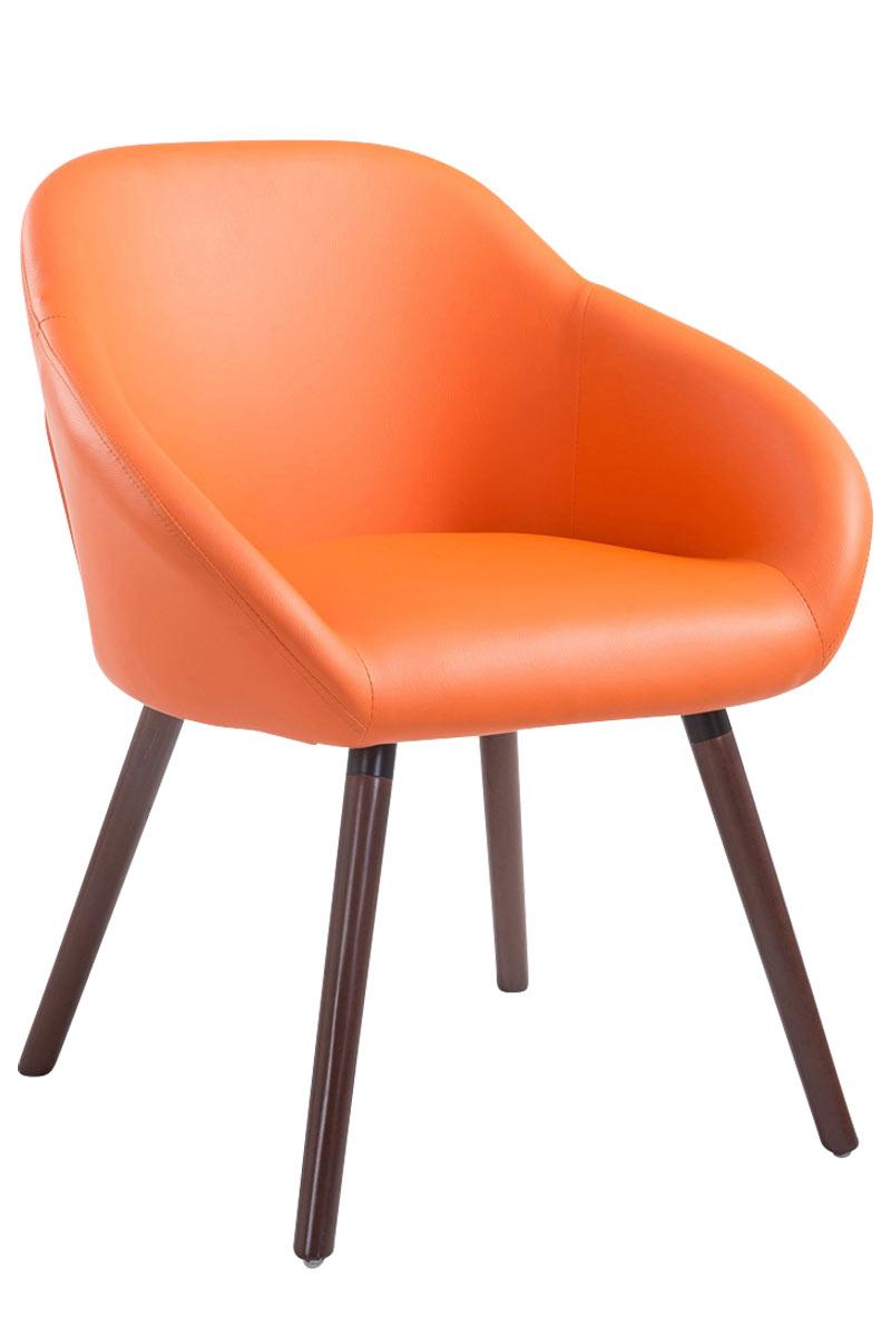 Jídelní židle Harry kůže, nohy ořech oranžová