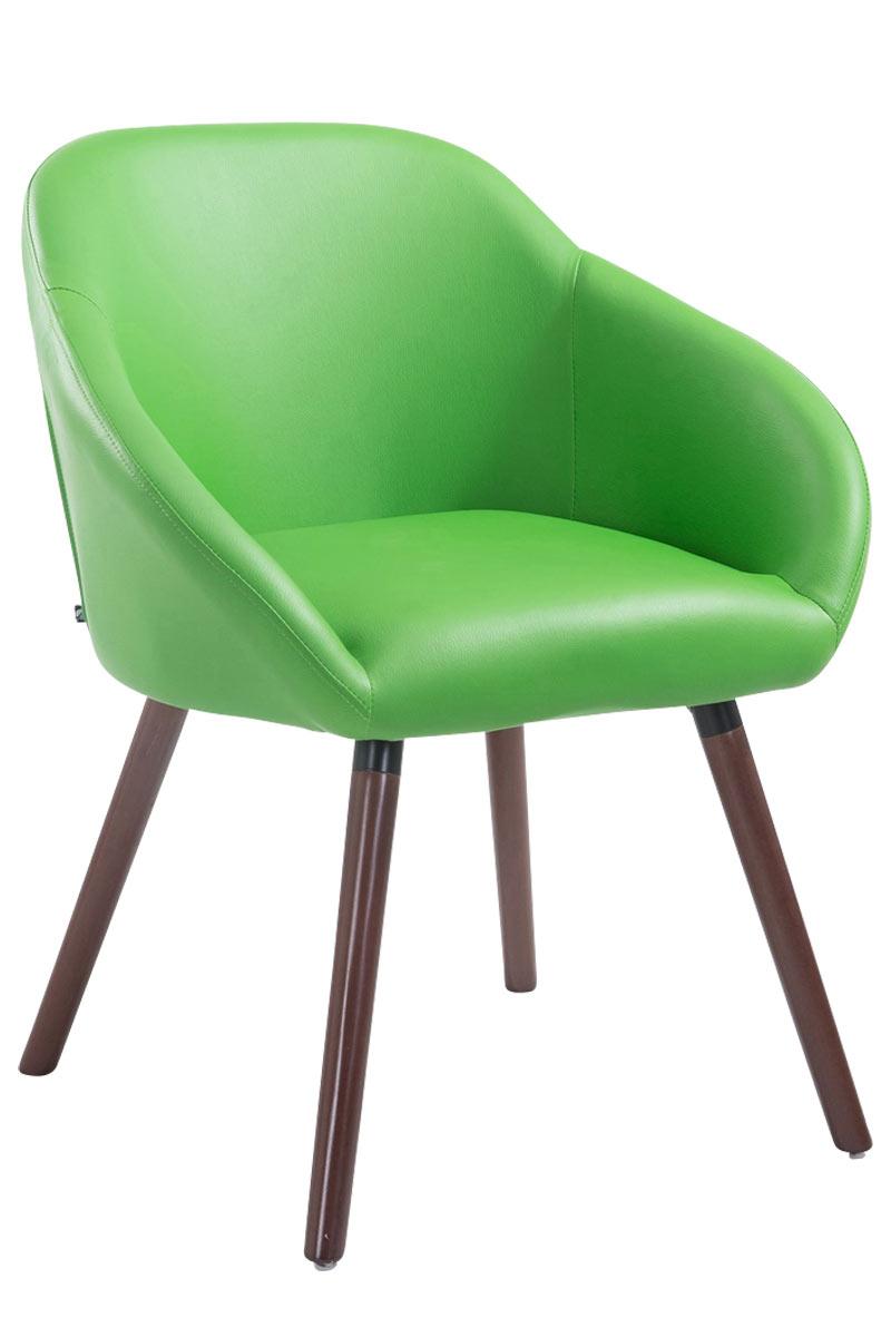 Jídelní židle Harry kůže, nohy ořech zelená