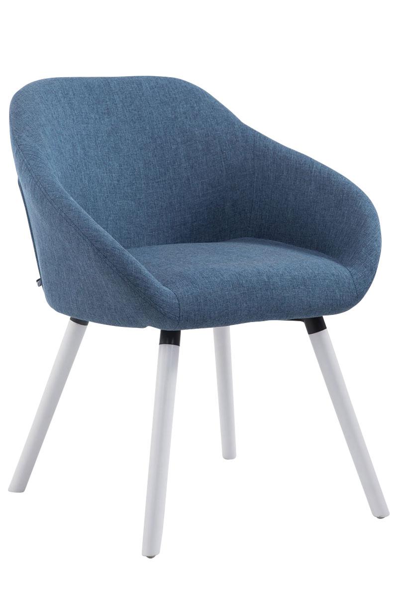 Jídelní židle Harry textil, bílé nohy červená