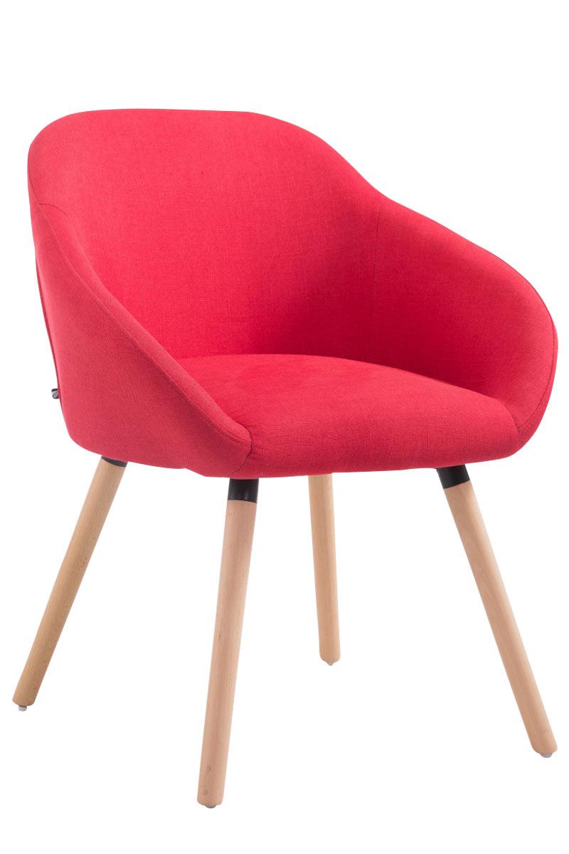 Jídelní židle Harry textil, přírodní nohy červená