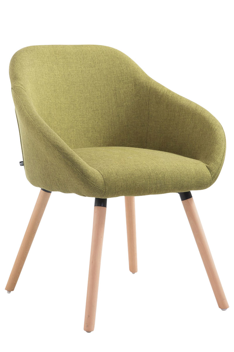 Jídelní židle Harry textil, přírodní nohy zelená
