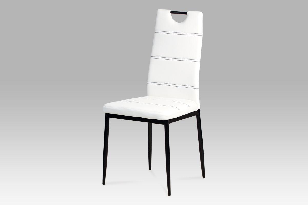 Jídelní židle Henrieta, bílá/černá