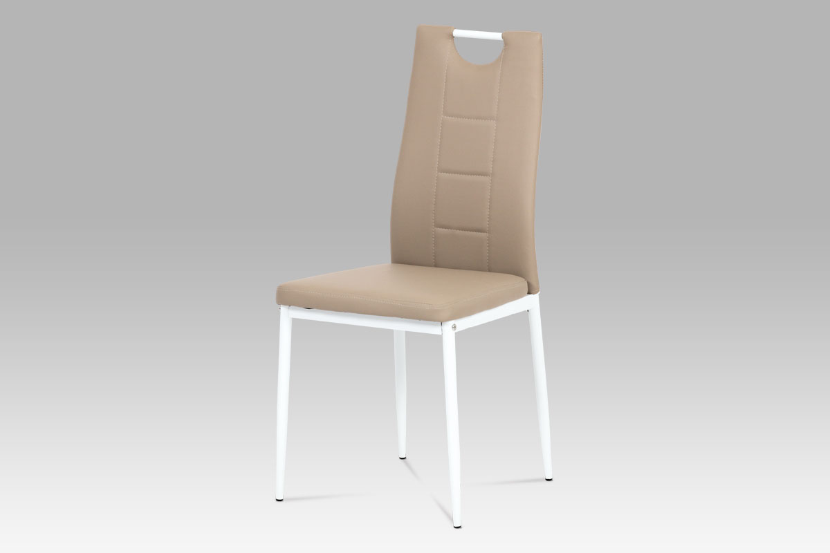 Jídelní židle Henrieta, cappuccino/bílá