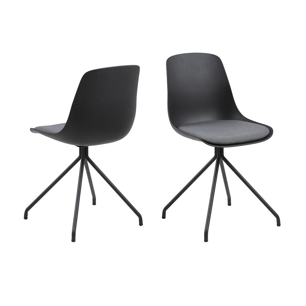 Jídelní židle Ilva, černá/šedá