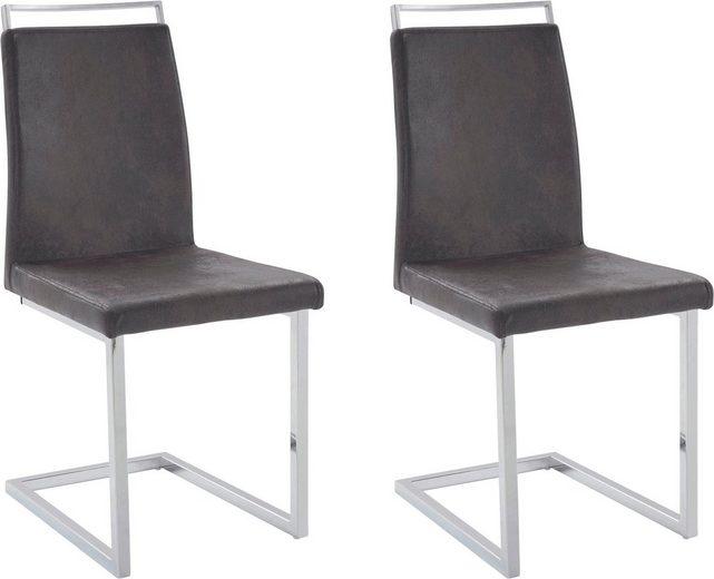 Jídelní židle Jasmi (SET 2 ks), antracitová