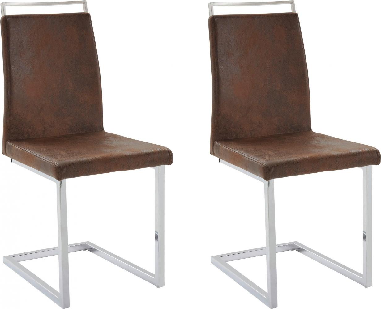 Jídelní židle Jasmi (SET 2 ks), hnědá