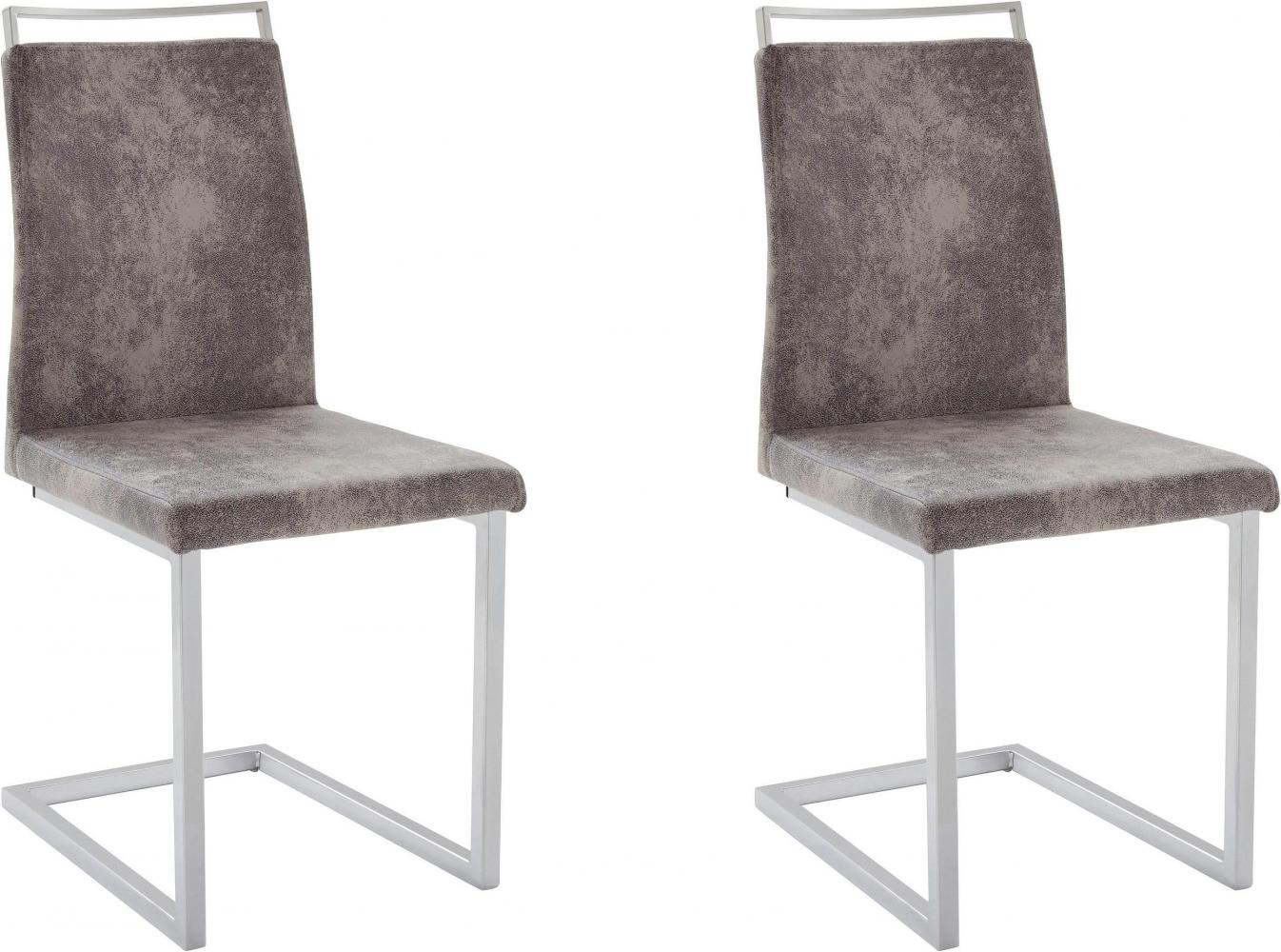 Jídelní židle Jasmi (SET 2 ks), světle šedá