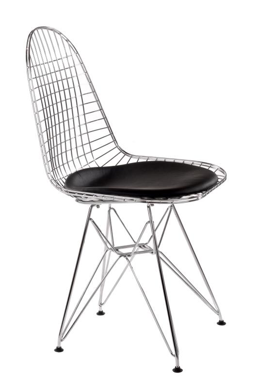 Jídelní židle Jette 2, chrom/černá