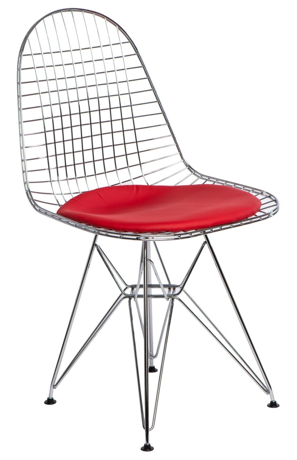 Jídelní židle Jette 2, chrom/červená