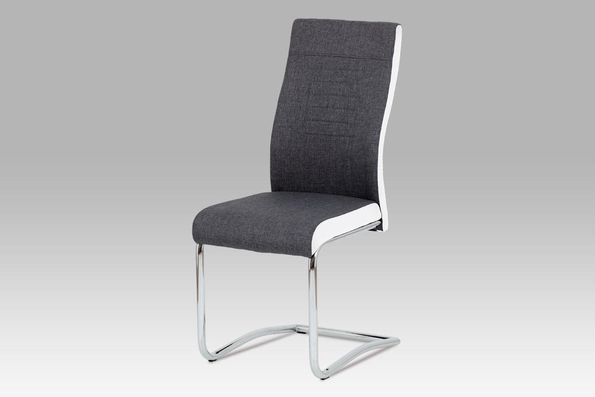 Jídelní židle Jonas, šedá / bílá